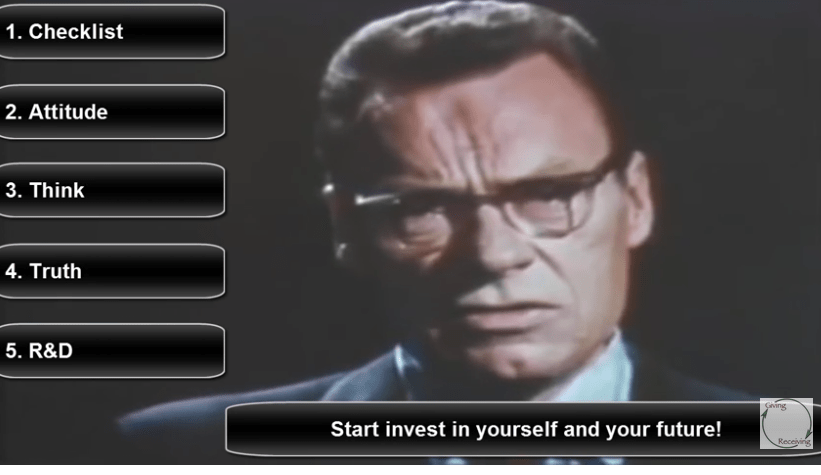 Earl Nightingale Success Checklist Income Wizards
