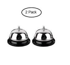 2 Metal Desk Bells