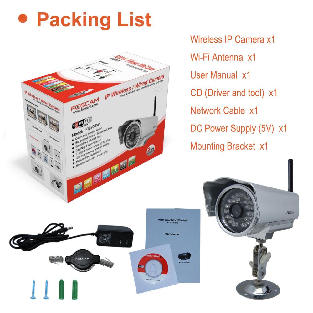 Foscam Fi8904w External Wireless Ip Camera Incompletegeek Wiring Diagram Package Contents