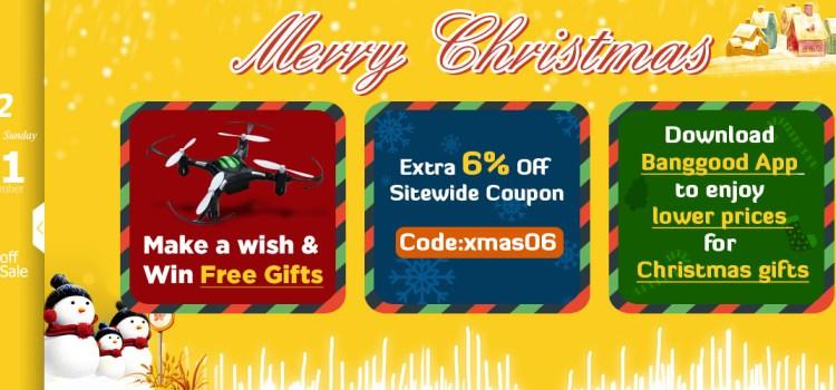 Banggood Christmas Sale and Free Gift Giveaway!