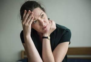 Woman latchkey incontinence stressed