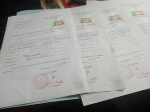 Tre atti di nascita a Tibati, Camerun