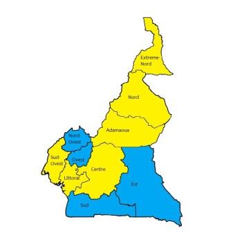 Carta regioni Camerun