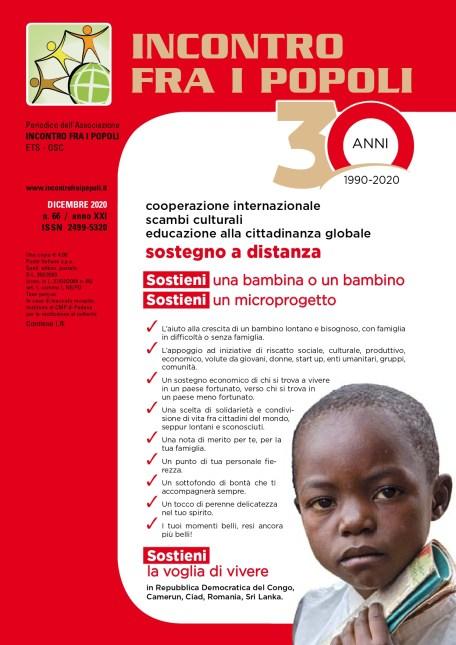 Incontro fra i Popoli - n. 66 Dicembre 20 cover page
