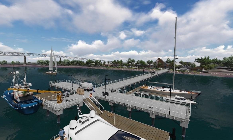 IMA, Construcción de la Terminal de Servicios Marítimos Auxiliares del Sector Pacífico con el Hincado de Pilotes