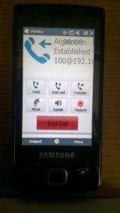 Windows Mobile 6.5 - PortGo Voip Client