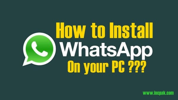 I want to download whatsapp on my computer