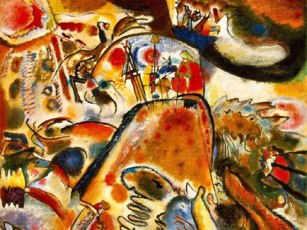 Art Lesson Kandinsky Sound Interpretation Painting
