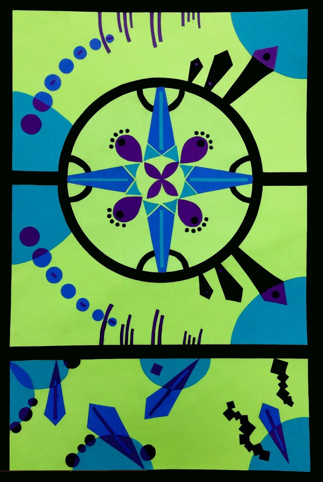 Art Lesson Balance Paper Collage