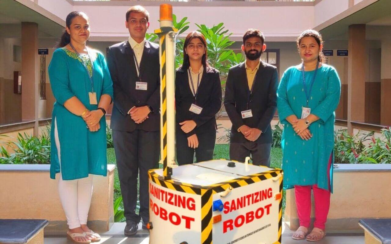Students of Don Bosco Engineering College Create The Sanitisation Robot