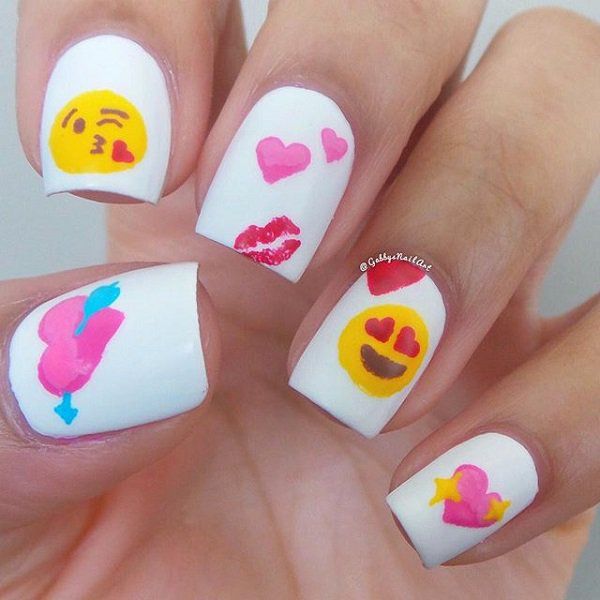 Anti Valentine Nail Art
