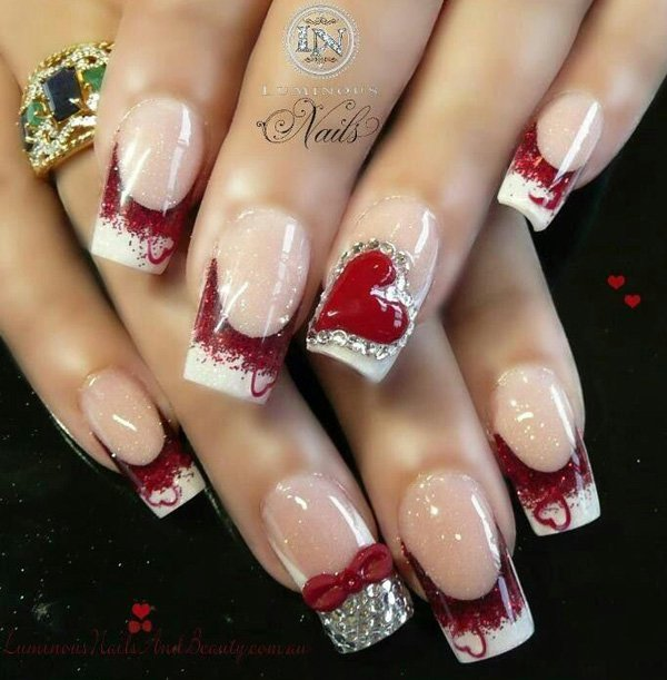 28 Valentine S Day Nail Art Ideas To Put You In The Mood For Love Photos Huffpost