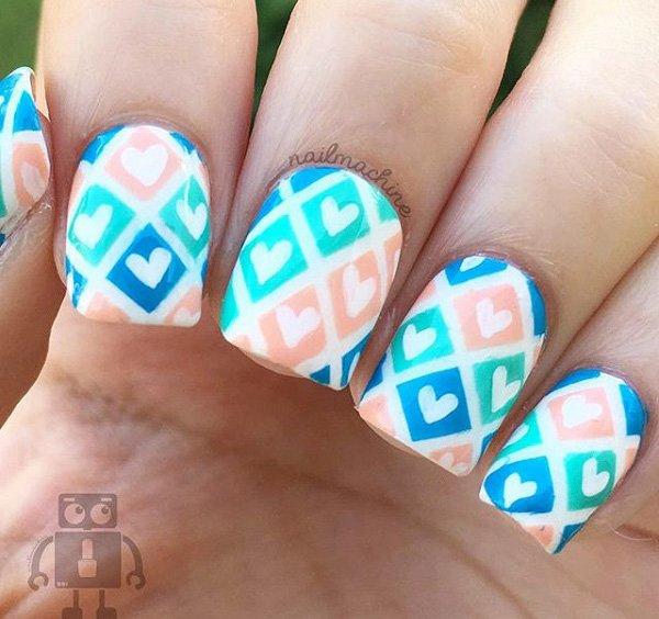 Nail Art Design For Valentine Day Pretty Easy Designs