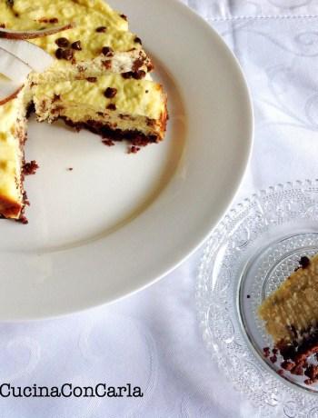Cheesecake al cioccolato e cocco