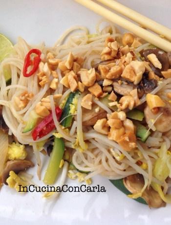 Spaghetti di riso Pad Thai