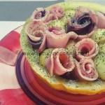 Ricetta Melone giallo con rose di pesce spada