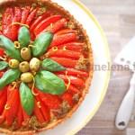 Ricetta Crostata ai pomodori, olive e acciughe
