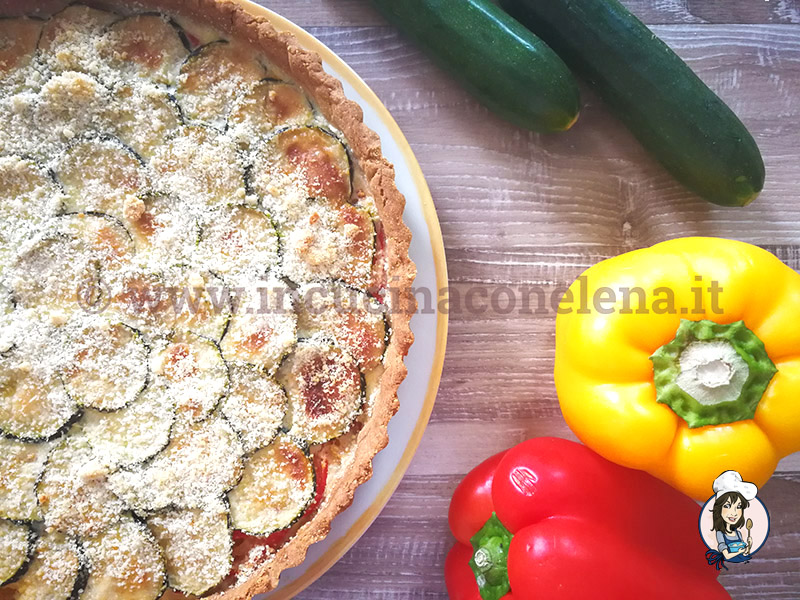 Quiche zucchine e peperoni