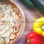 Ricetta Quiche zucchine e peperoni
