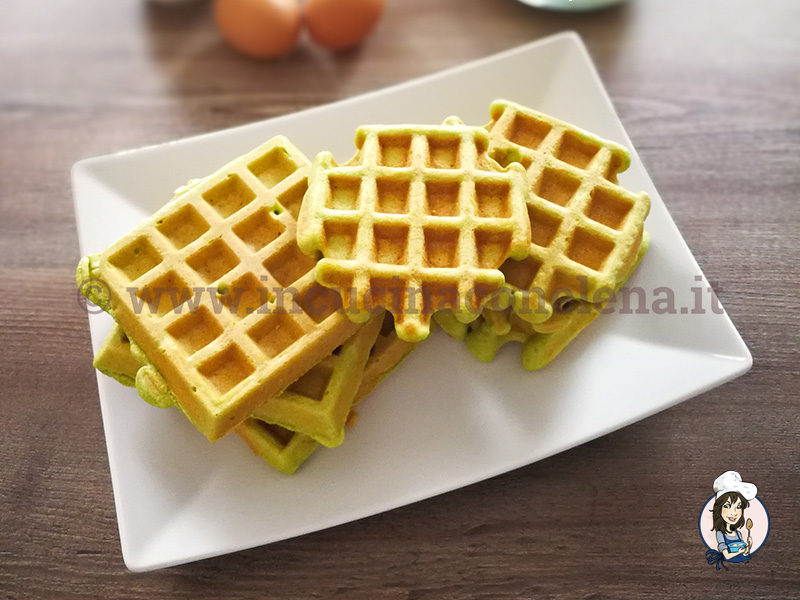 Waffle di piselli
