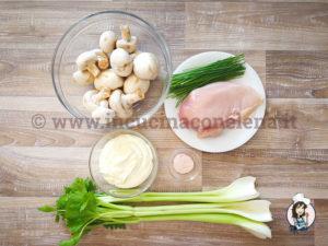 Insalata di sedano e champignon
