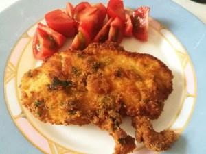 Petti di pollo impanati e fritti