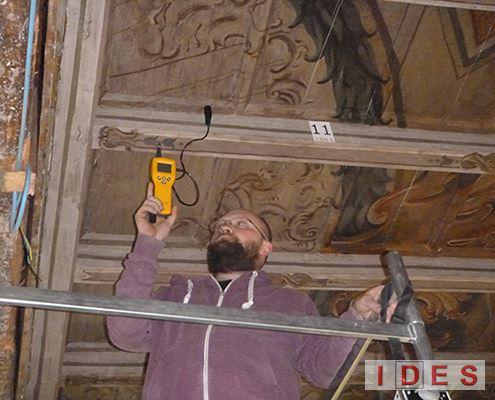 Analisi igrometrica su legno