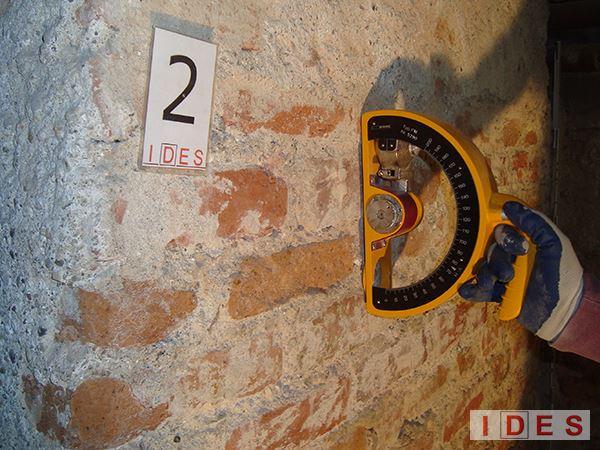 """Palazzo """"Monforte"""" - Direzione Regionale Lombardia Demanio - Milano - Prove sclerometriche su malta"""
