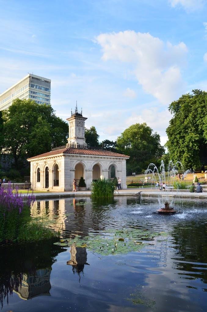 Jardim Italiano em um dos parques de Londres