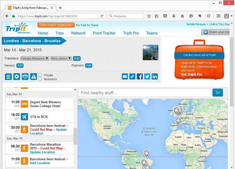 Trip it - Excelente aplicativo para organizar viagens