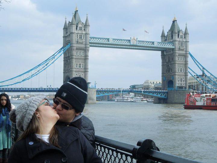 Nós dois em Londres, UK.