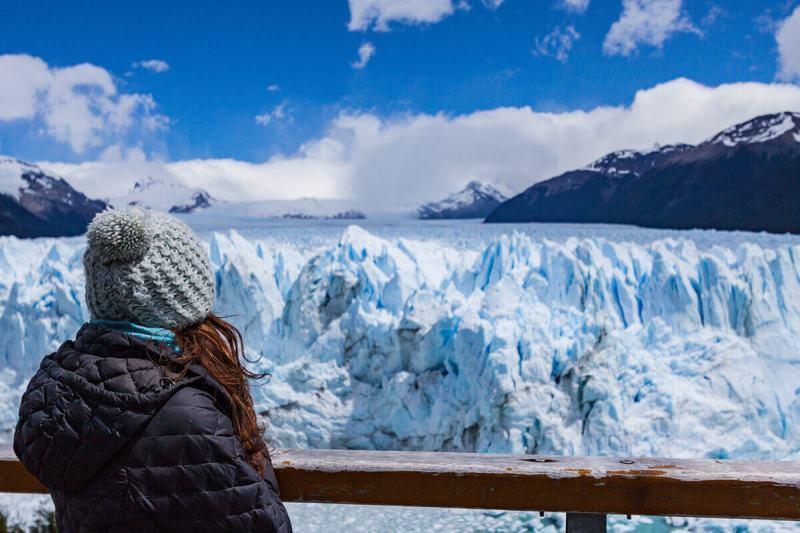 Geleiras glaciares de Perito Moreno na Patagônia Argentina