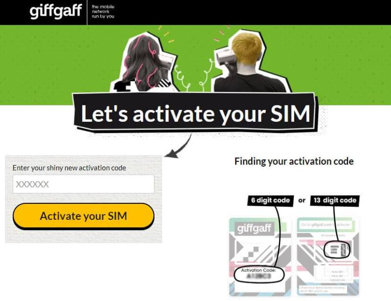 chip de internet Europa: GiffGaff