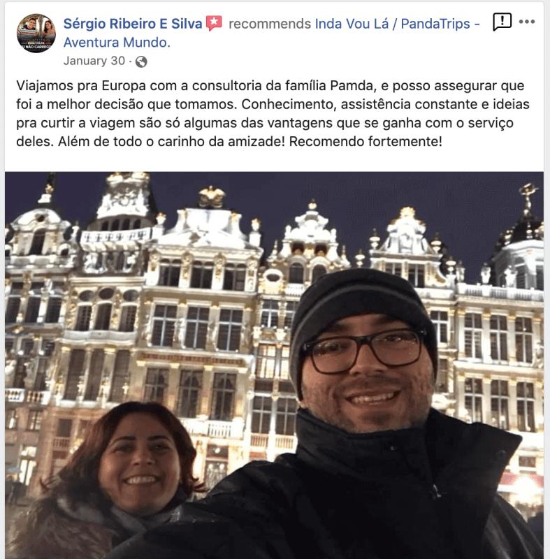 depoimento de assessoria de viagem