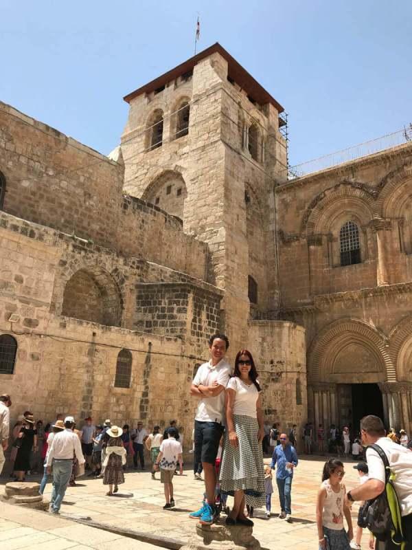 Igreja do Santo Sepulcro na cidade antiga de jerusalém