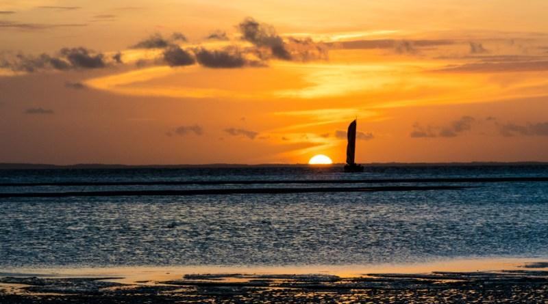 Pôr do sol no espigão em São Luís do Maranhão