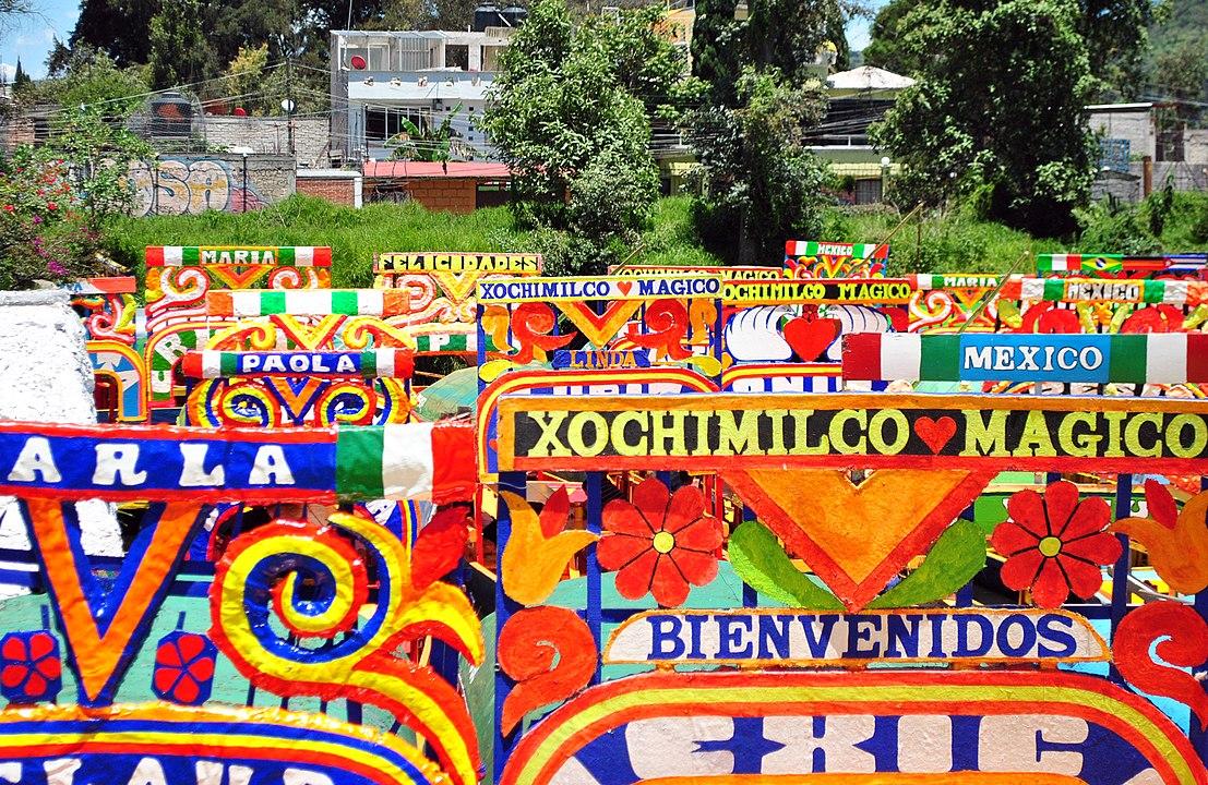 trajineras em Xochimilco