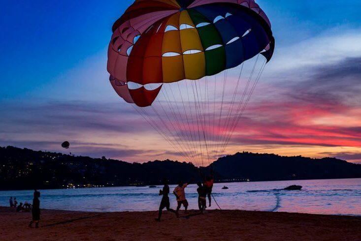Por do Sol em Patong, Phuket.