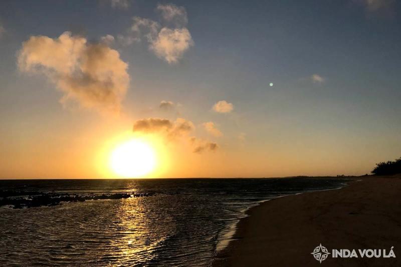 por do sol em barra grande - litoral piaui