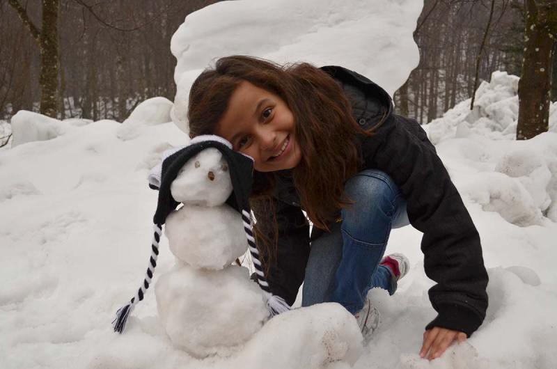 Primeiro Boneco de Neve na Croácia