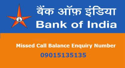 Bank of India Missed Call Balance Enquiry Number