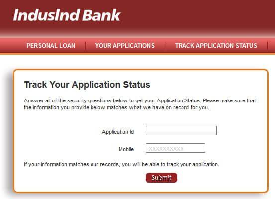 IndusInd Loan Status