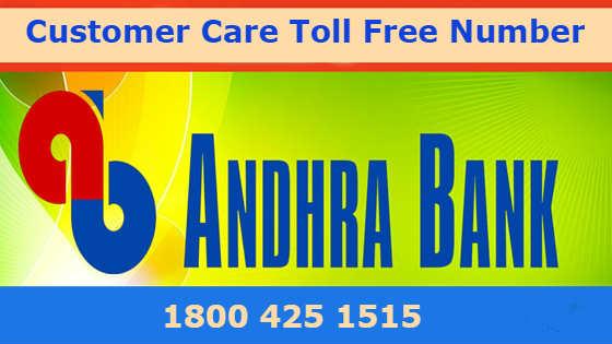 andhra bank net banking customer care number