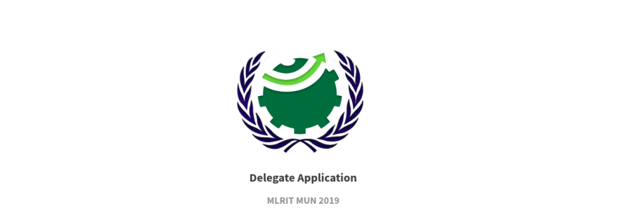 MLRIT MUN 2019 - MLR Institute of Technology