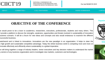 National Conference on Innovation in Information Technology 2019
