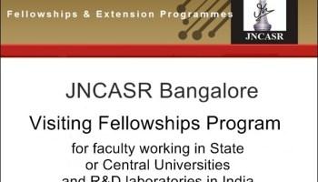 JNCASR Bangalore Visiting Fellowships Program
