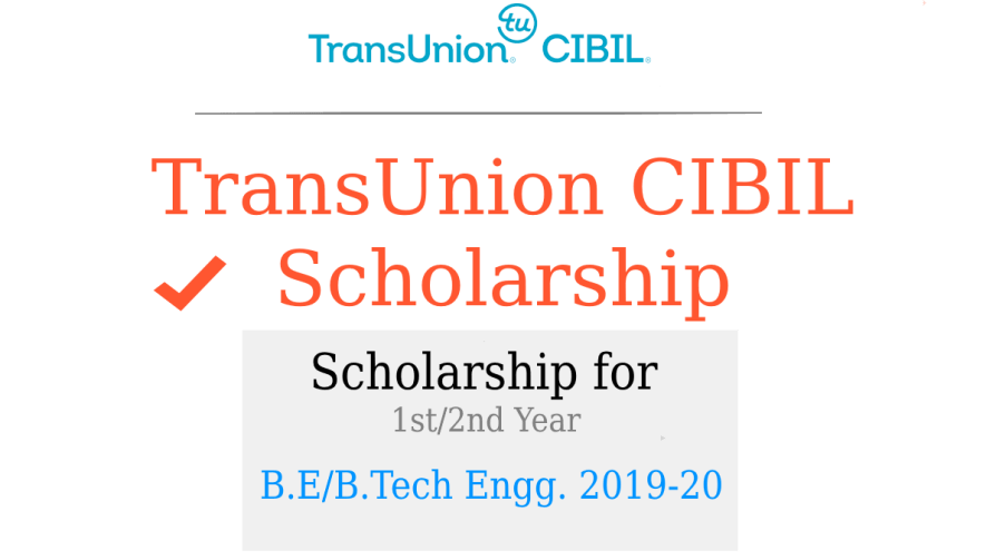 TransUnion CIBIL Scholarship Programs 2019-20
