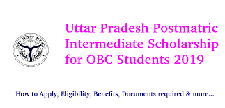 Postmatric Intermediate Scholarship for OBC Students, Uttar Pradesh 2019-20