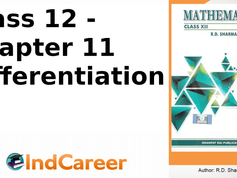 RD Sharma Solutions for Class 12 Maths Chapter 11–Differentiation
