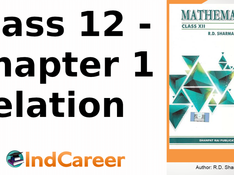 RD Sharma Solutions for Class 12 Maths Chapter 1–Relation